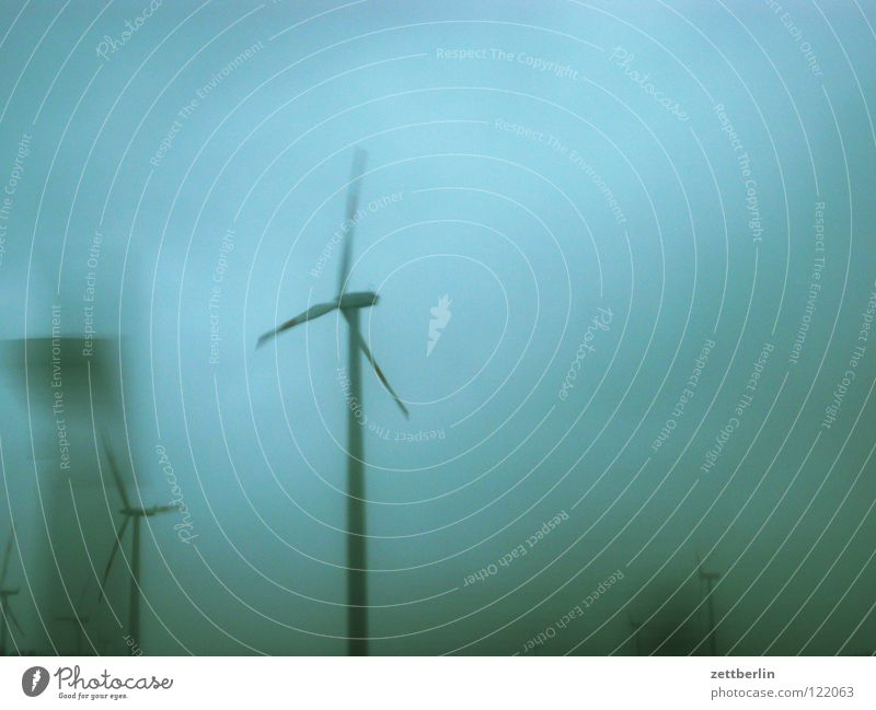 wind Wind energy plant Gale Energy industry Renewable Electricity High voltage power line Propeller Storm Low pressure zone Speed Industry Sky Transport