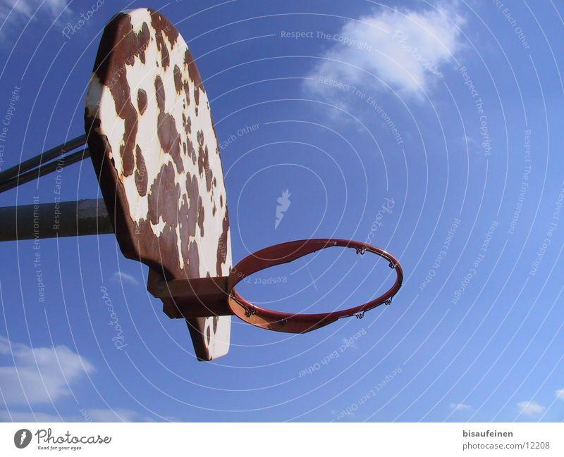 Sky Clouds Sports Rust Basket Basketball Covers (Construction) Basketball basket Vapor trail