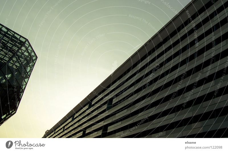 Sky Blue Beautiful City Clouds House (Residential Structure) Black Cold Dark Life Window Freedom Above Gray Wall (barrier)