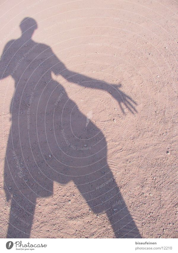 showdown Human being Sand Going Dust Afternoon siluette self-portrait Silhouette shadow Body Colour photo