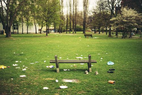City Green Environment Spring Meadow Berlin Feasts & Celebrations Garden Party Park Dirty Sit Clean Cleaning Bench Trash