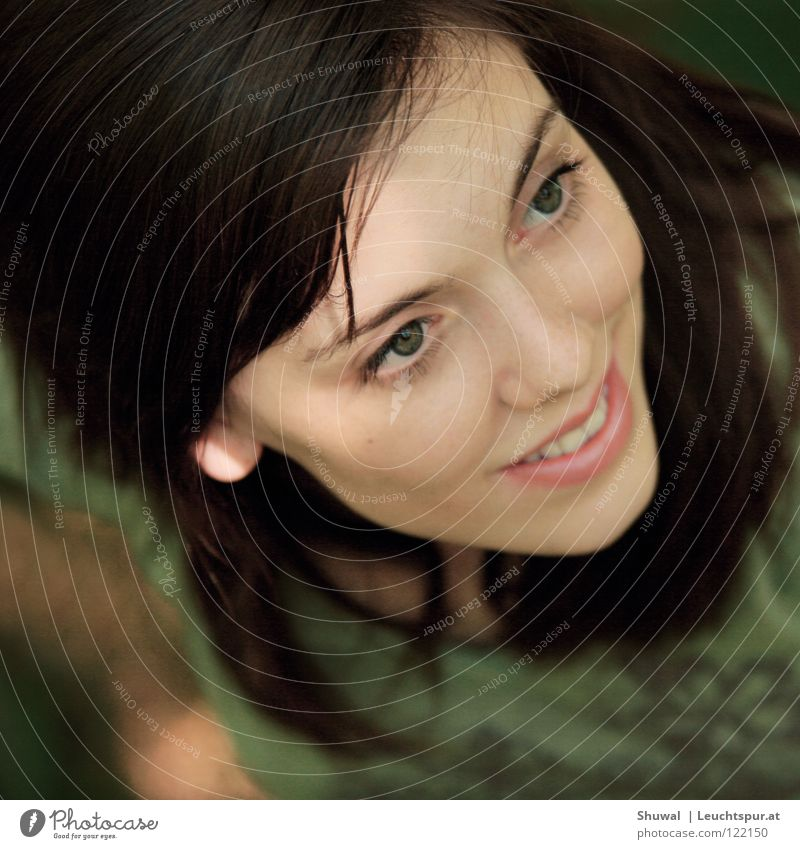 Woman Youth (Young adults) Green Beautiful Joy Face Eyes Feminine Head Hair and hairstyles Religion and faith Mouth Elegant Skin Hope Beauty Photography