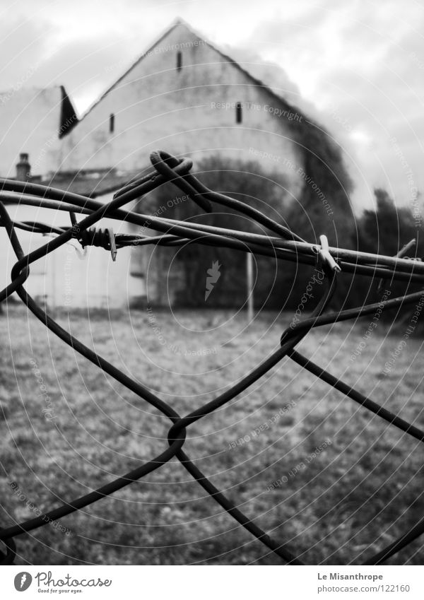 forsake sb./sth. House (Residential Structure) Fence Loneliness Broken Gloomy Grief Derelict Fear Distress Old End Sadness Black & white photo