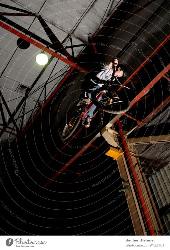 Sports Lamp Jump Playing Steel Warehouse Neon light Departure BMX bike Trick Carrier Bicycle