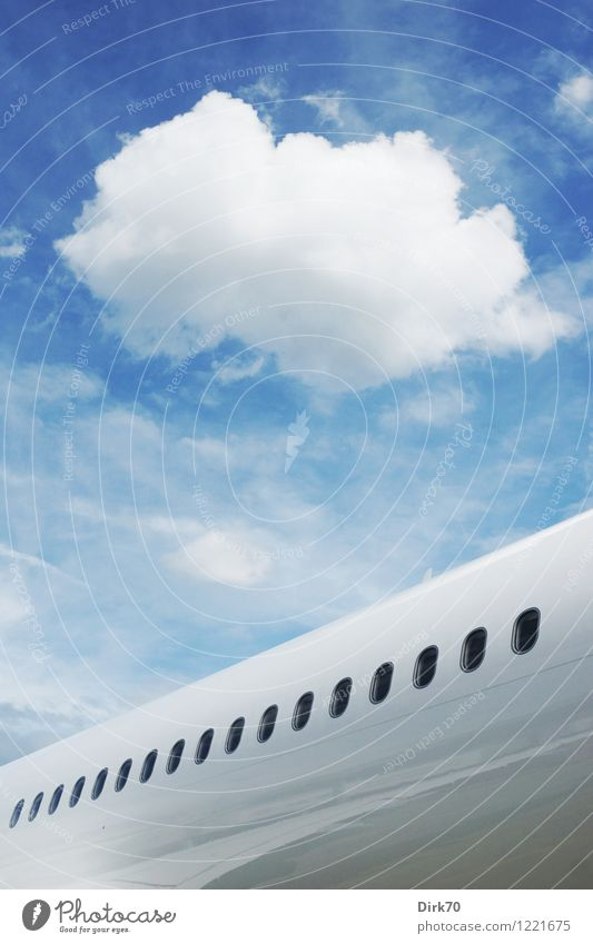 dream of flying Vacation & Travel Tourism Summer vacation Aviation Advancement Future High-tech Sky Clouds Beautiful weather Transport Means of transport