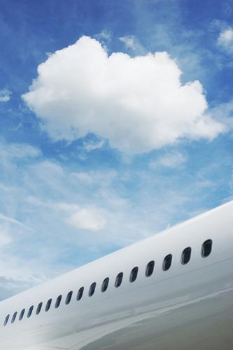 Sky Vacation & Travel Blue Summer White Clouds Black Flying Bright Tourism Elegant Aviation Transport Esthetic Beginning Future