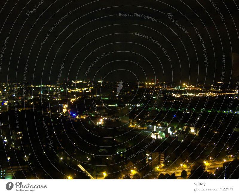 illumination Dortmund Light Night shot Illumination Exposure Night life Multicoloured Work and employment Long exposure Skyline Florian Tower floriant tower