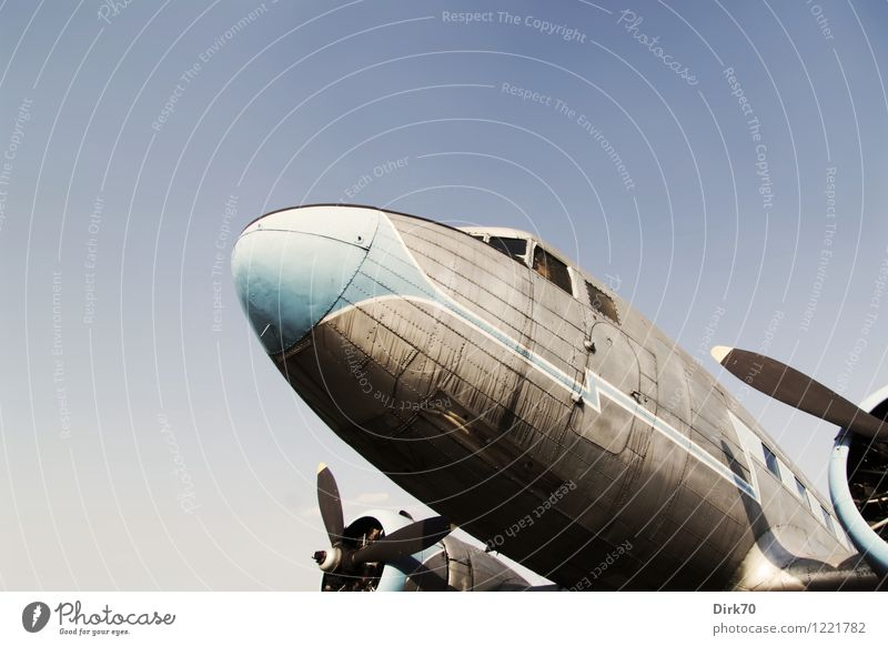 Air Nostalgia II Vacation & Travel Adventure Far-off places Freedom Technology history of technology Cloudless sky Beautiful weather Aviation Airplane