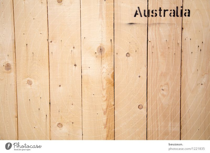 down under. Vacation & Travel Tourism Adventure Far-off places Moving (to change residence) Australia Port City Container ship Harbour Wooden box Characters