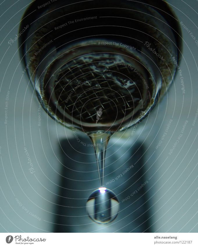 Blue Water Cold Gray Bright Glittering Wet Perspective Circle Round Drop Bathroom Under Fluid Damp Hang