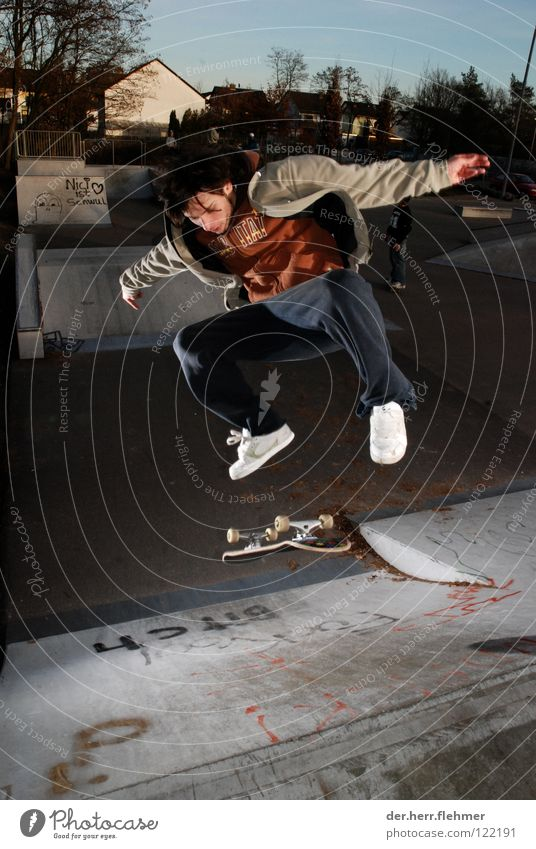 kickflip to fakie Kickflip Skateboarding Style Ramp Jump Trick Sports ground Lightning Jacket Griptape Road adherence Speyer Playing Bench Shadow Jeans Axle