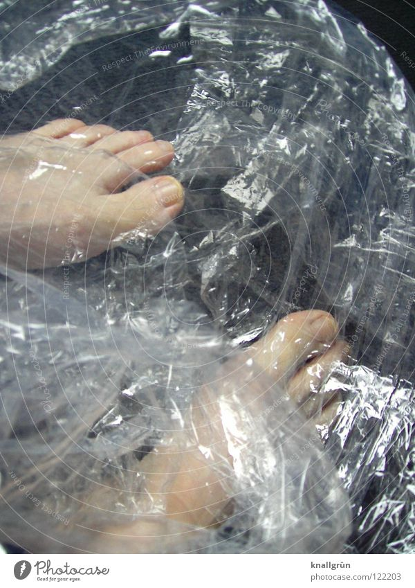 Feet Bright Transparent Obscure Pallid Toes Packaged Packing film Packaging material