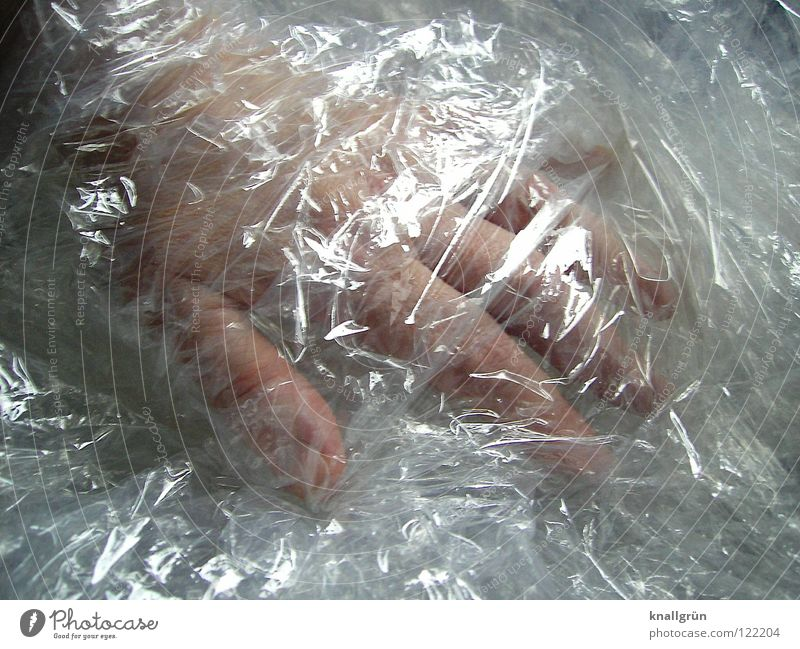 Hand Cold Bright Glittering Fingers Transparent Obscure Packaged Packing film Packaging material
