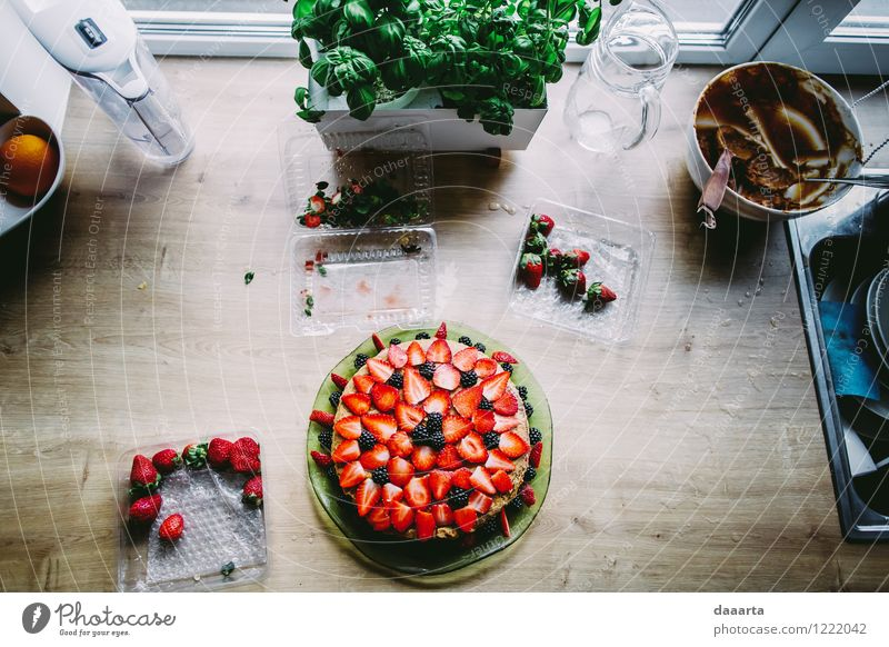 kitchen days Food Fruit Cake Dessert Candy Chocolate Herbs and spices Strawberry Basil Lifestyle Style Joy Harmonious Relaxation Leisure and hobbies Playing