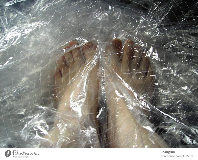 Package content: 2 pieces Packing film Packaged Packaging material Transparent Obscure Feet