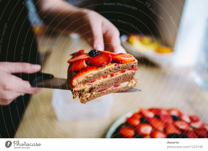 cake time Food Fruit Cake Dessert Candy Strawberry dewberry Blackberry Nutrition Knives Lifestyle Elegant Style Joy Harmonious Leisure and hobbies