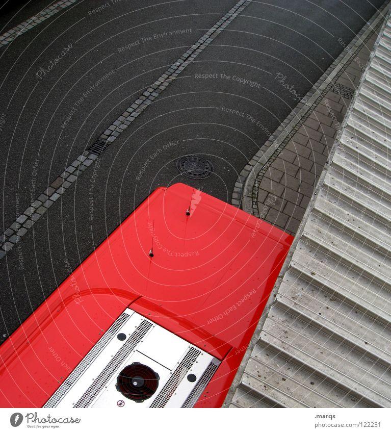 City Red Black Street Dark Gray Lanes & trails Line Airplane Transport Perspective Corner Logistics Vantage point Roof Asphalt