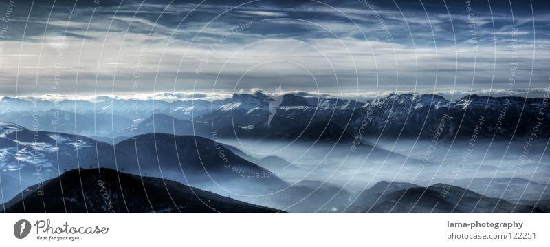 Sky Nature Blue Tree Clouds Environment Landscape Dark Mountain Snow Earth Air Dream Fog Large Future