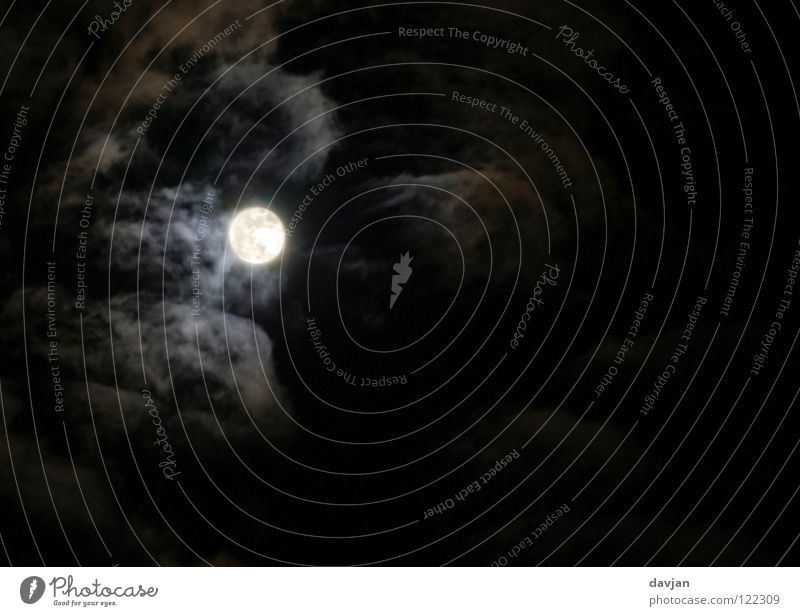 Sky Black Clouds Dark Bright Lighting Fear Might Creepy Moon Panic Full  moon Werewolf Wisp of cloud