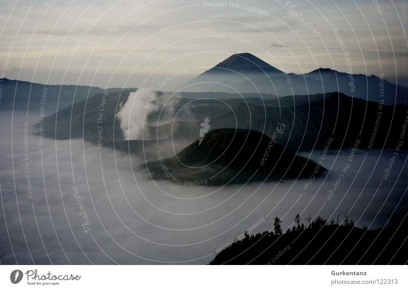 Clouds Fog Weather Action Dangerous Asia Smoke Mountaineering Steam Volcano Mountain Indonesia Sulphur Java