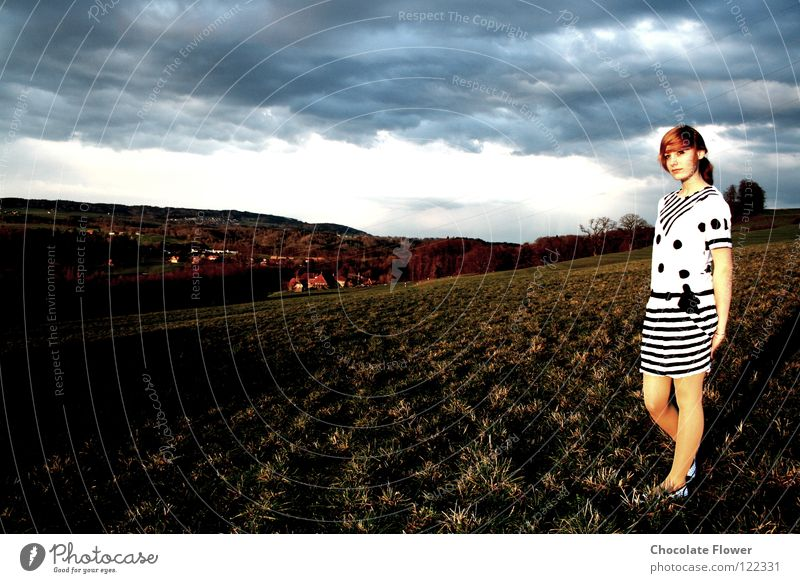 Shadow/sun side Meadow Dress Clouds Sunny side Hope Autumn Switzerland approaching storm Weather