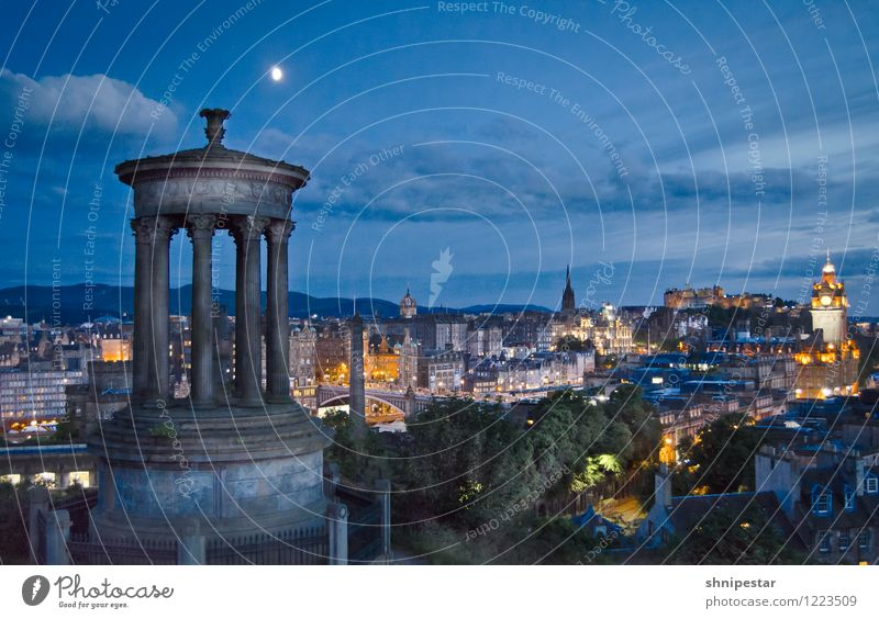 There will be night in Edinburgh Vacation & Travel Tourism Trip Far-off places Sightseeing City trip Summer Summer vacation Night life Entertainment Culture