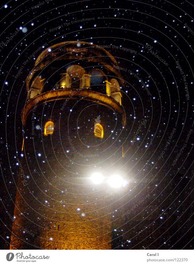 Old Sky Black Yellow Dark Snow Window Stone Snowfall Lighting Fear Stars Weather Crazy Closed Tower