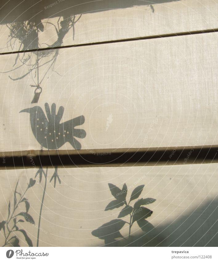 Plant Leaf Meadow Jump Window Spring Bird Decoration Delicate Cloth Drape Curtain Rag Textiles Shadow play
