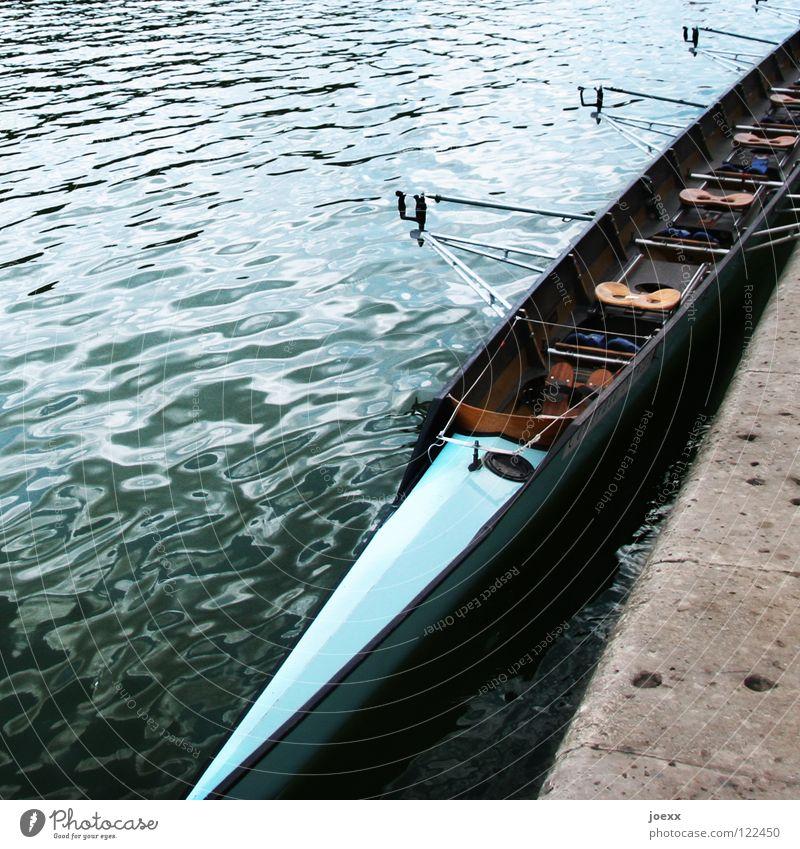 Blue Water Wood Coast Together Leisure and hobbies Sit Break Narrow Seating Aquatics Rowboat Bow Rhine Beat Narrow