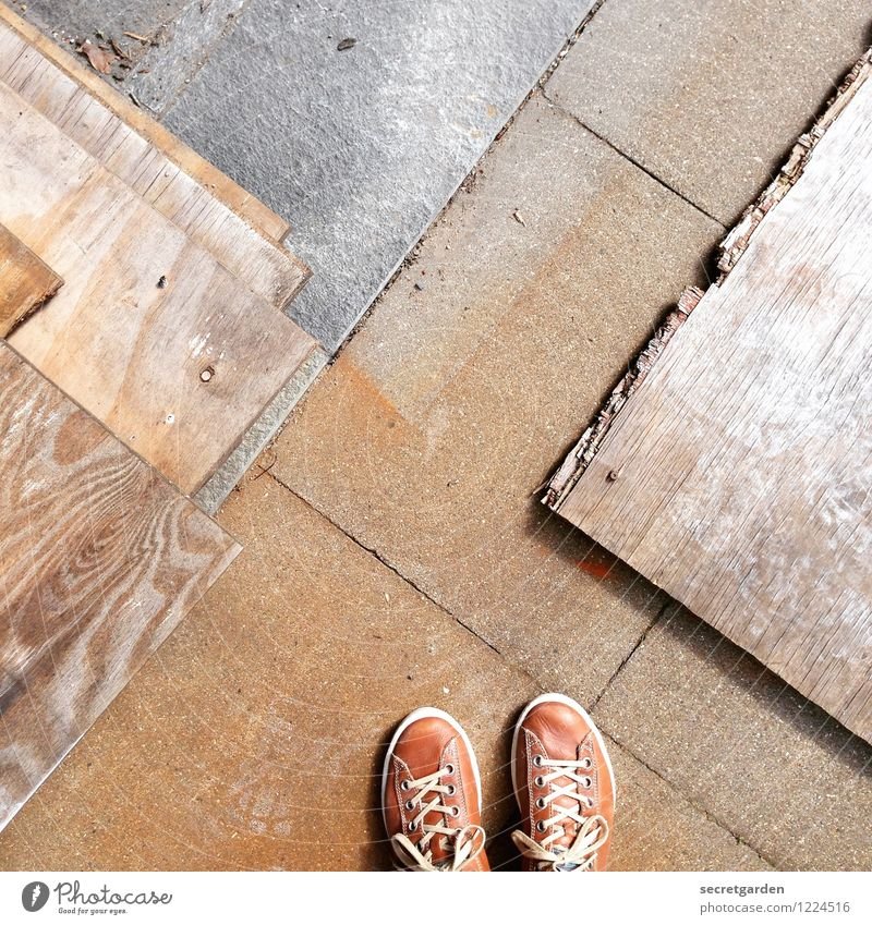 prefabricated building Construction site Craft (trade) Masculine Feminine Androgynous Feet 1 Human being Lanes & trails Footwear Sneakers Wood Line