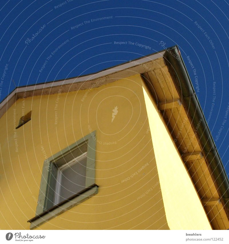 Sky Blue House (Residential Structure) Yellow Wall (building) Window Roof