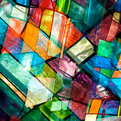 opaque Style Design Art Window Glass Line Exceptional Cool (slang) Hip & trendy Uniqueness Modern Many Crazy Multicoloured Colour Arrangement Surrealism