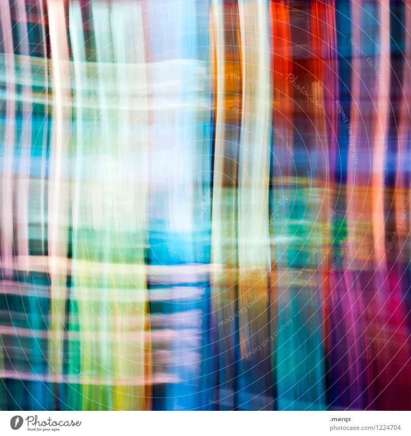 streaked Style Design Glass Line Stripe Exceptional Uniqueness Modern Crazy Multicoloured Movement Colour Double exposure Background picture Colour photo