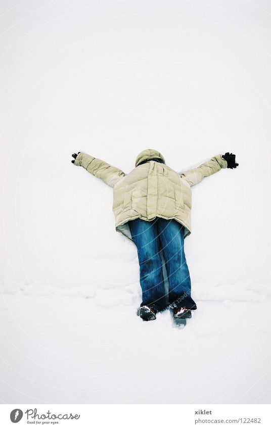 snow Snow Coat Cold Freedom Emotions Freeze Joy White Hidden Vacation & Travel Relaxation To enjoy Winter Pants Weatherproof Denim Lie Snowscape Jacket