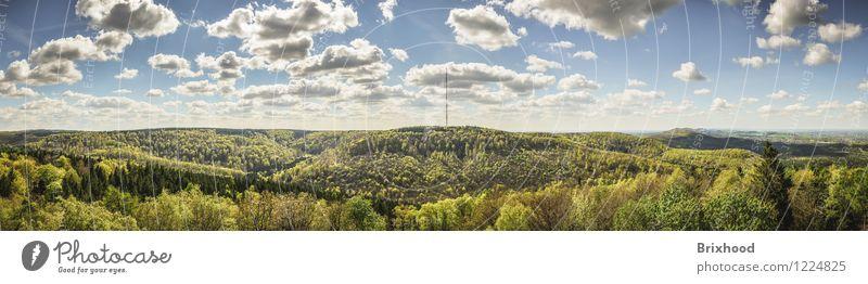 Panorama - Teutoburg Forest - East Westphalia Nature Landscape Horizon Spring Beautiful weather Tree Mountain Canyon Germany North Rhine-Westphalia