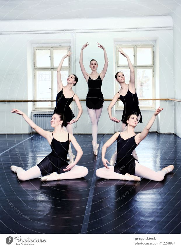 Ballet Human being Woman Youth (Young adults) 18 - 30 years Window Adults Wood Art Elegant Stand Sit Dance Blossoming Culture Thin University & College student