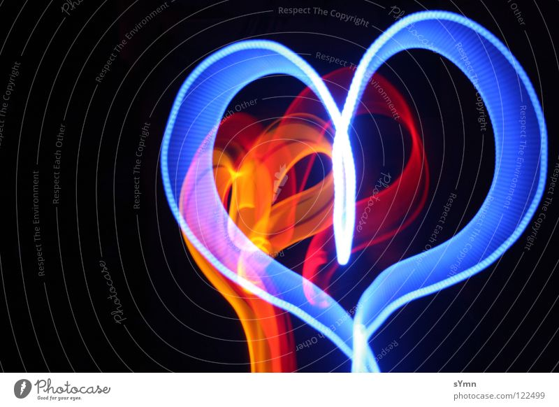 Blue Red Love Black Yellow Lamp Dark Light Ice Bright Orange Heart Blaze 3 Longing Repeating