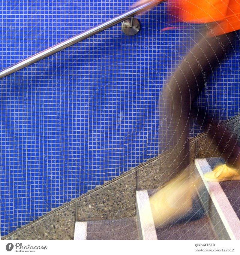 White Blue Jump Movement Orange Walking Running Speed Stairs Dangerous Underground Hunting Train station Extreme sports