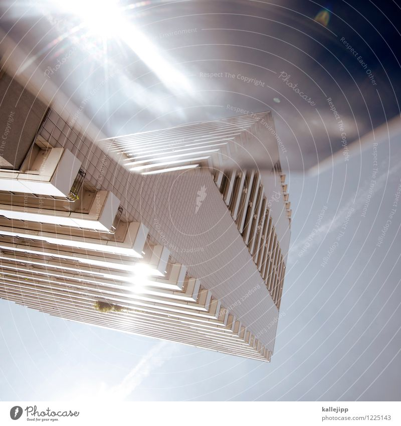 aida Town House (Residential Structure) High-rise Facade Blue Future Spacecraft Sky Sunbeam Colour photo Exterior shot Experimental Light Shadow Contrast Blur