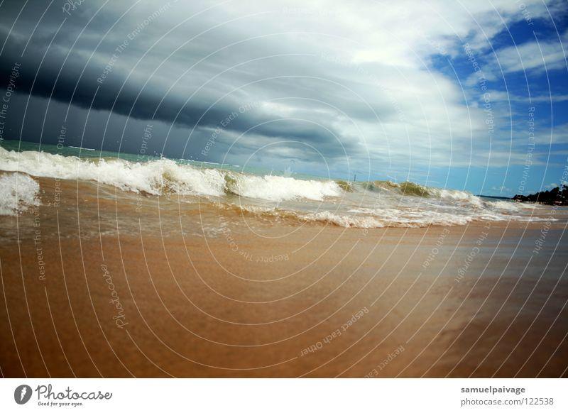 Sky Ocean Beach Clouds Waves