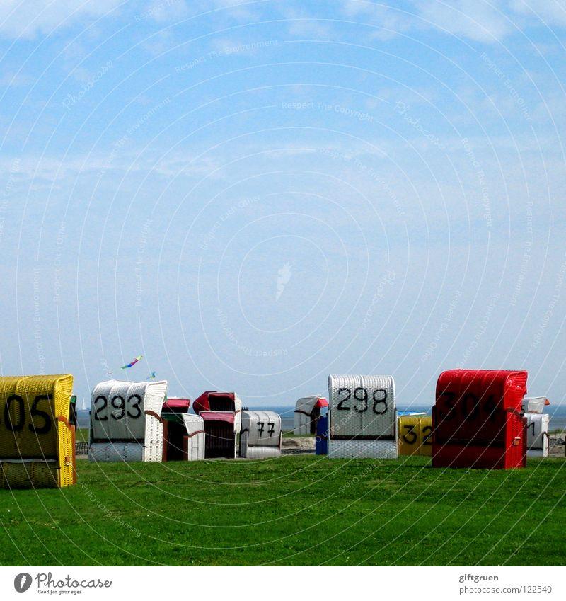 Sky Blue Summer Beach Vacation & Travel Meadow Grass Coast Leisure and hobbies Chaos North Sea Dragon Muddled Beach chair