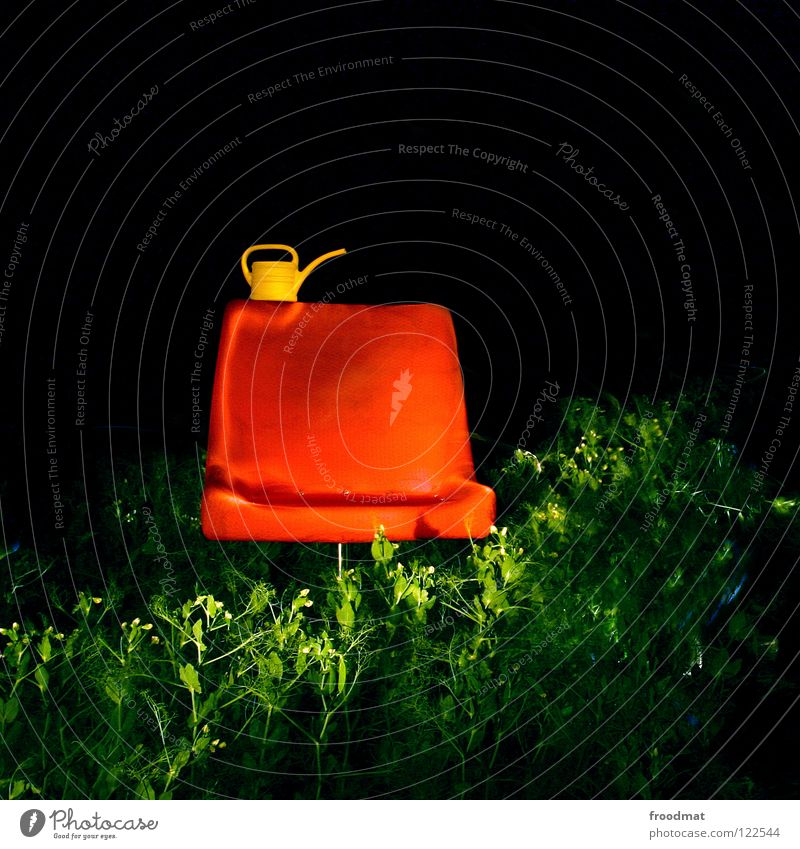 chair lift Square Shift work Long exposure Things Jug Armchair Watering can Stupid Futile Night Dark Agriculture Break Chic Furniture Misplaced froodmat Orange