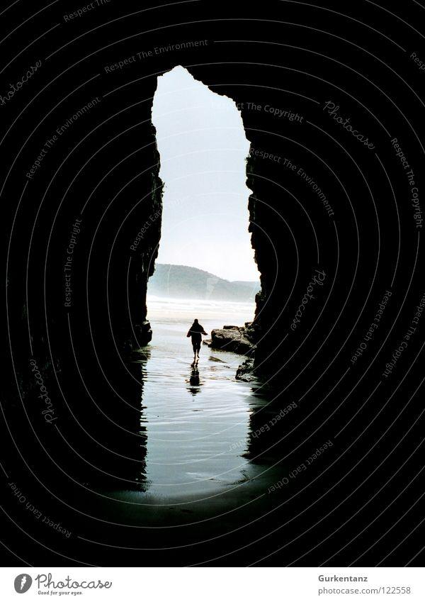 Water Ocean Beach Mountain Rain Coast Cathedral New Zealand Cave South Island