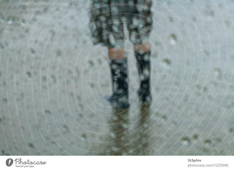 Human being Man Blue Water Dark Black Cold Adults Environment Sadness Gray Legs Feet Rain Weather Wind