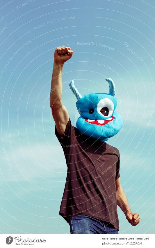forward! Art Work of art Esthetic Monster Ogre Monstrous Success Prospect of success Extraterrestrial Extraterrestrial being Blue Blue sky Forwards Attack