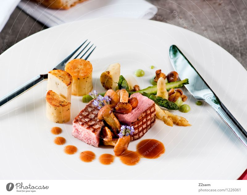 Blossom Healthy Food photograph Fresh Elegant Nutrition To enjoy Concrete Cooking & Baking Clean Kitchen Vegetable Delicious Mushroom Bread Meat