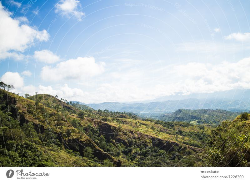 Honduras Landscape Sky Clouds Summer Beautiful weather Meadow Field Hill Blue Green Colour photo Exterior shot Deserted Copy Space top Day Deep depth of field