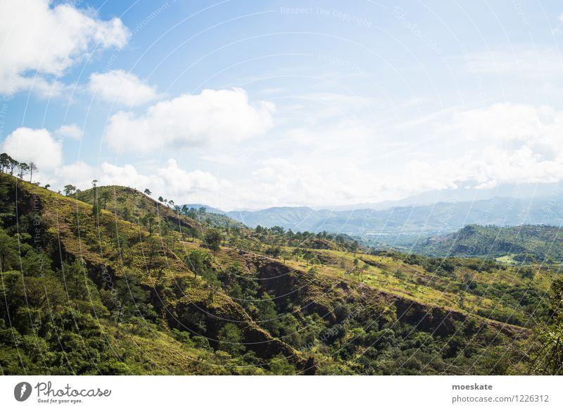 Sky Blue Green Summer Landscape Clouds Field Honduras