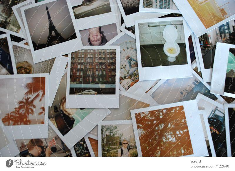 paris, new york, hawaii... Analog Photography Polaroid Old Many Heap Muddled Vacation photo Memory