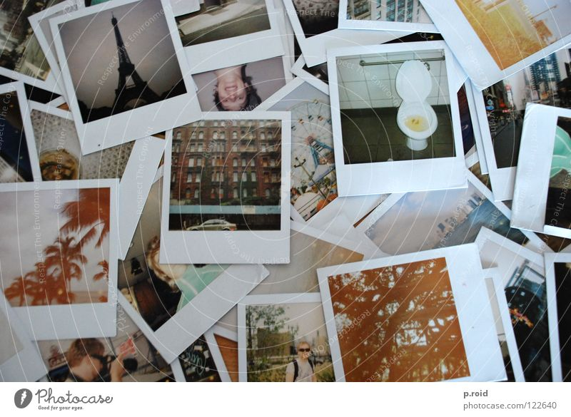 Polaroid Old Photography Many Analog Muddled Memory Heap Vacation photo